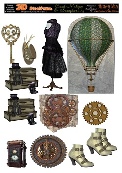 Steampunk vintage  mixed media  Card making sheets  A4 min buy 5