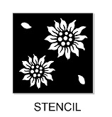 Sunflower stencil,multi size min buy 3