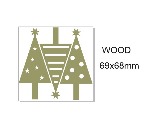 Christmas trees,WOOD. Set of 3. Min buy 3