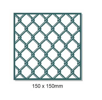 Chain Mail fence wire,150mm x 150mm. Min buy 3.