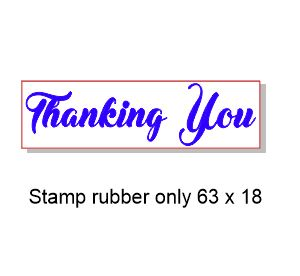 Thinking of you 60 x 15mm Stamp Rubber only, Acrylic blocks are
