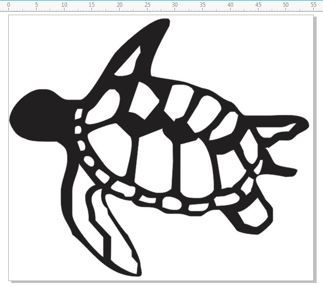 Turtles,turtle, Individual pack of 10 -    55 x 48 mm