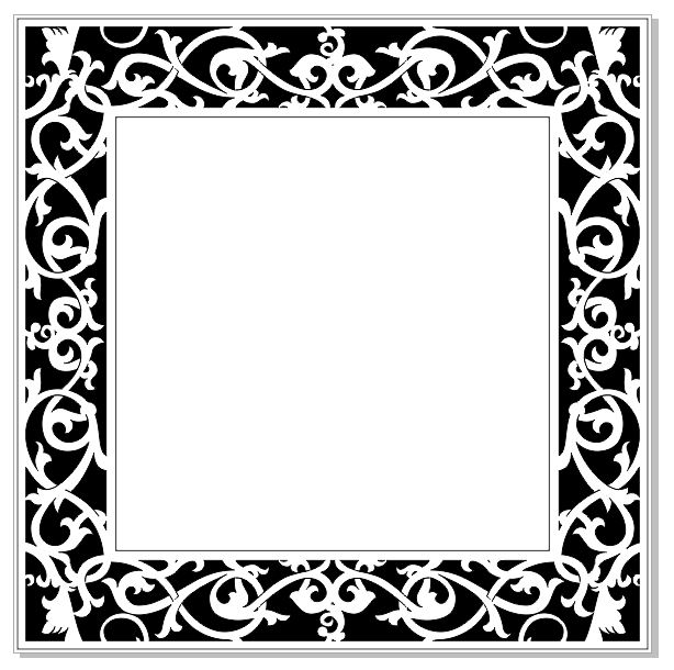 Ornate frame 150 x 150 (6x6) min buy 3