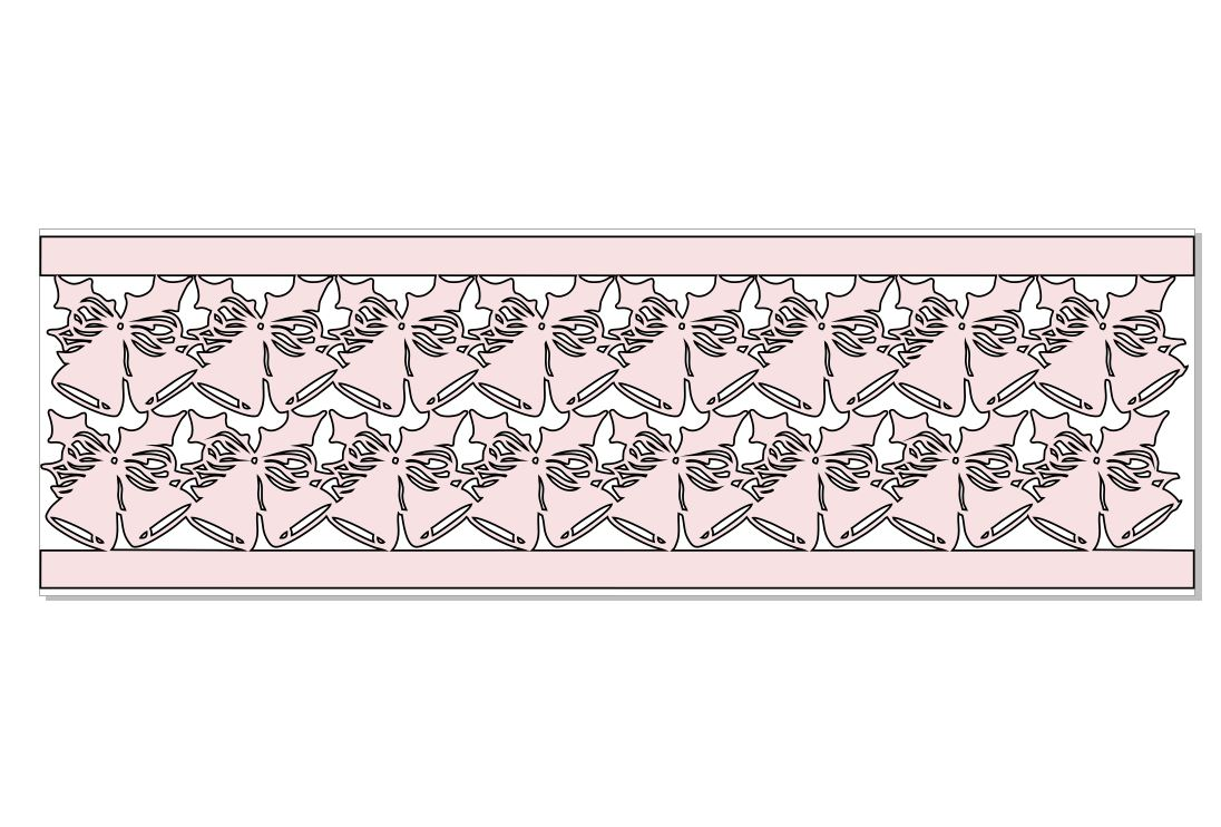 Christmas  BELL SNIP AWAY BORDER 300 X 95