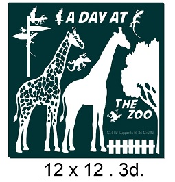 A Day at the Zoo.3d.12 x 12  Min buy 2