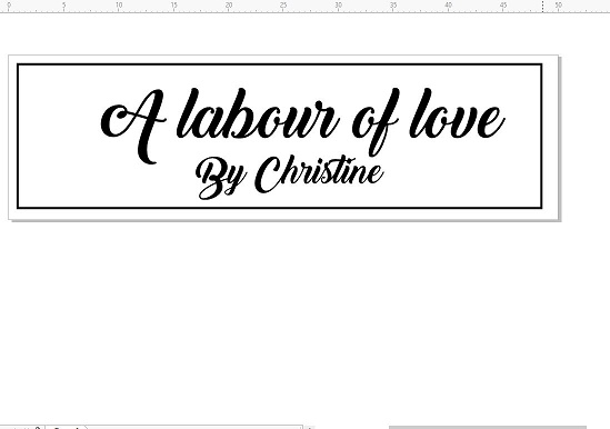 A labour of love by christine 50 x 15mm with 6mm perspex stamp b