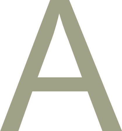 Arial 40mm Letter - A