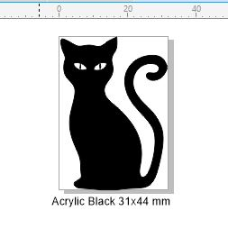 Acrylic black acrylic black 32 x 45 pack of 4