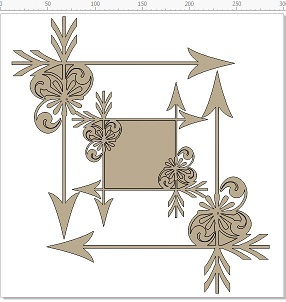 Adorned corners 12 x 12 set of 2  frame  in pack  min buy 3