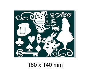 Alice in Wonderland, it's always time for tea. 140 x 180mm Min b