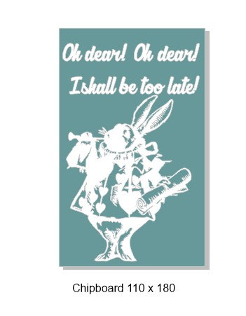 Alice  rabbit 110 x 180mm min buy 3