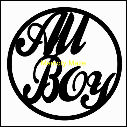 All Boy in circle 75 x 75mm packs of 10 Memory Maze