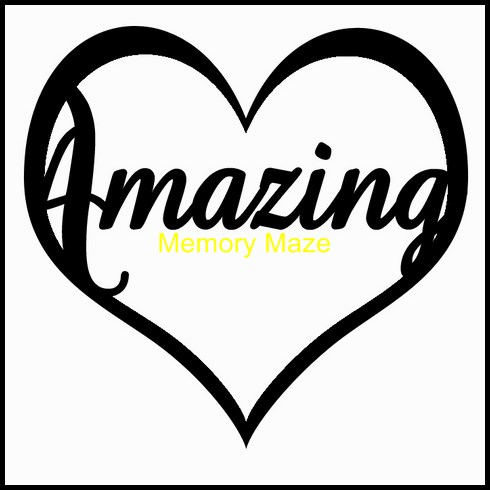 Amazing in heart  75 x 75mm packs of 10 Memory Maze