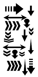 Mini Stencils 50 x 100mm arrows  min buy 5  priced individually