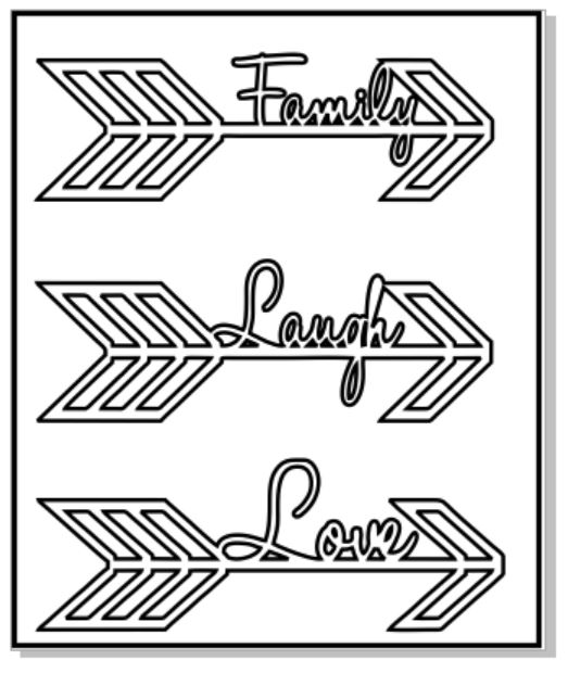 Arrows family laugh love 100 x 120  sold 3\'s