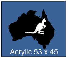 Map of Australia Acrylic Black 53 x 45mm,pack of 5