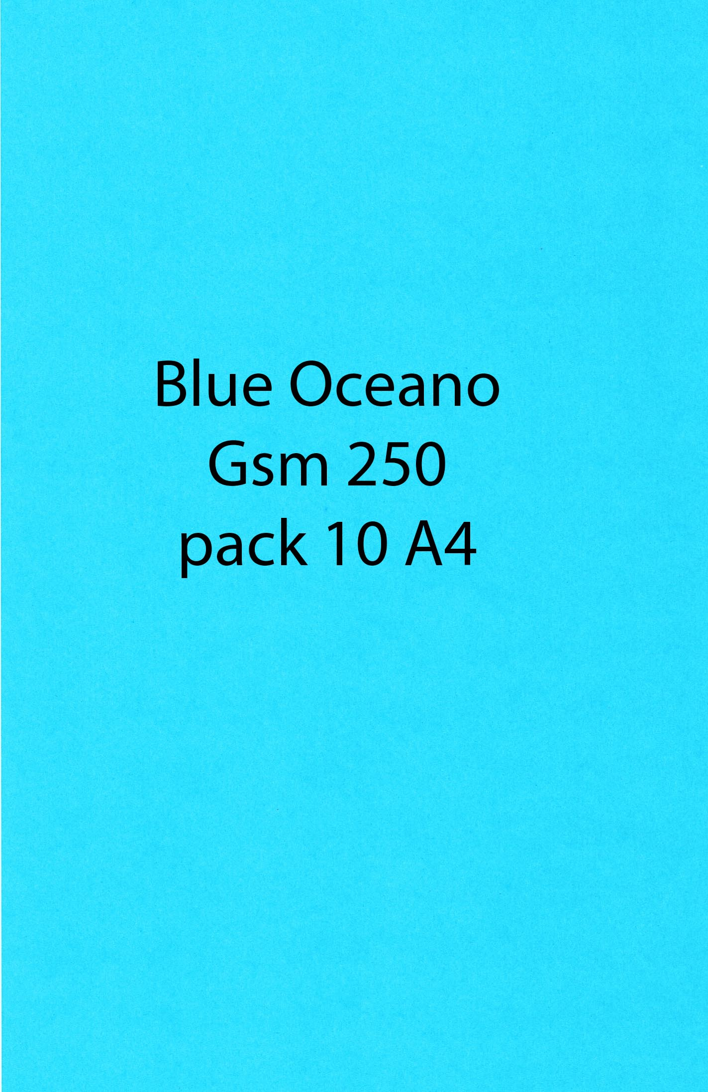 A4 Plain Card Blue Oceano 250 10 Pack