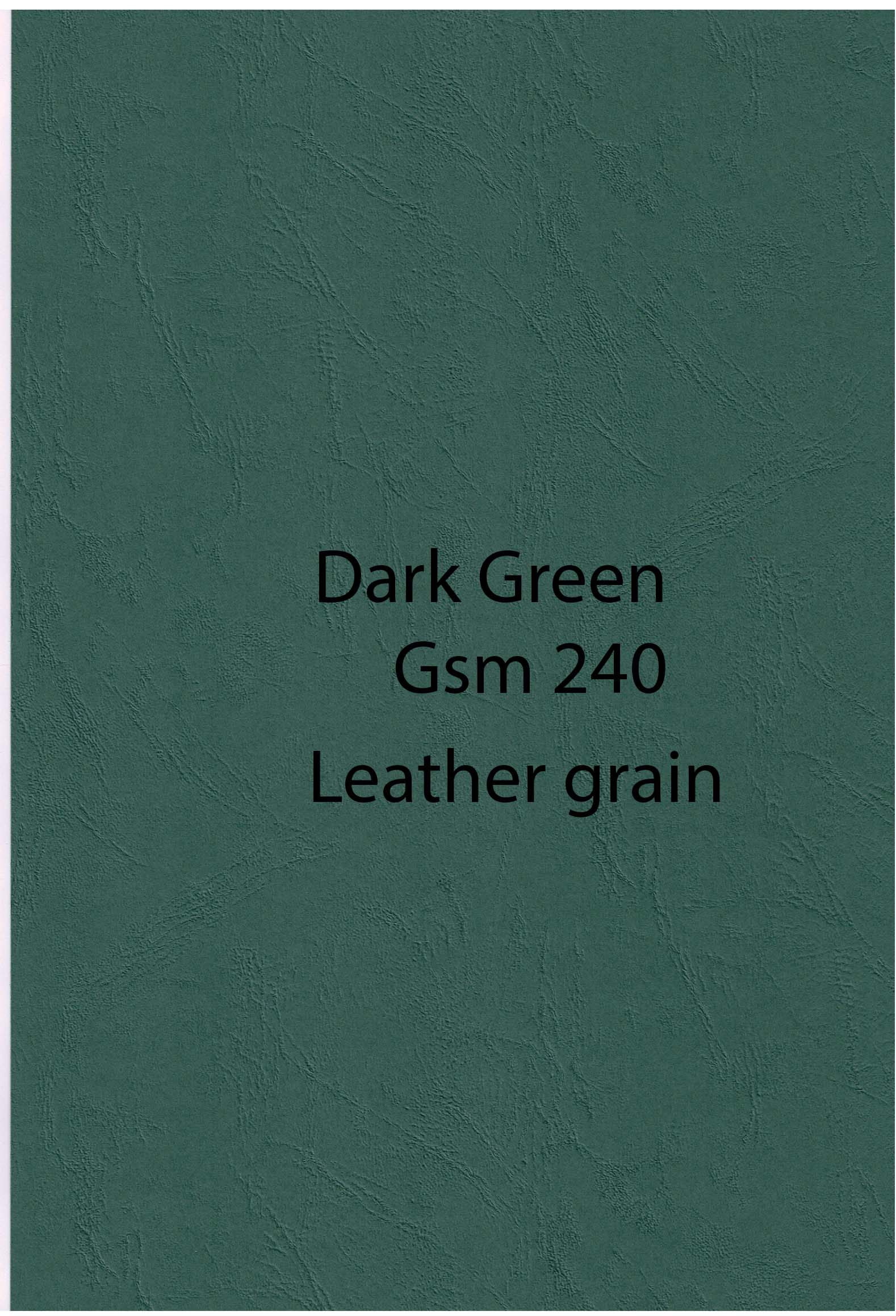 A4 dark green Leather Gr 250 g 10 pack