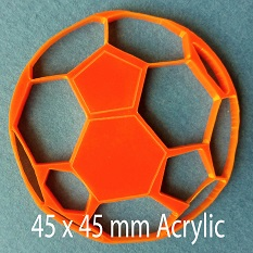 Ball, Acrylic Sports Ball,Acrylic,40x40mm,Pack of 5