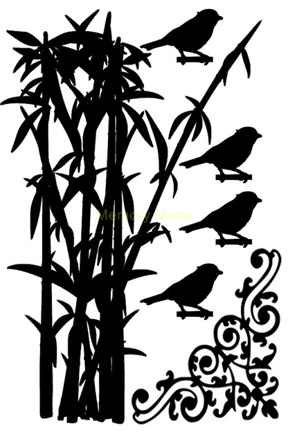 Bamboo and birds 100 x 150 sold in 3's