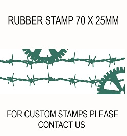 Background Barb wire and cogs  70 x 25mm RUBBER ONLY  with d/s t