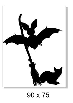Bat, broom sil 90 x 75 Pack of 4 . Chipboard or  acrylic see dro