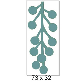 Berry sprig Single Chipboard -Christmas  73 x 32