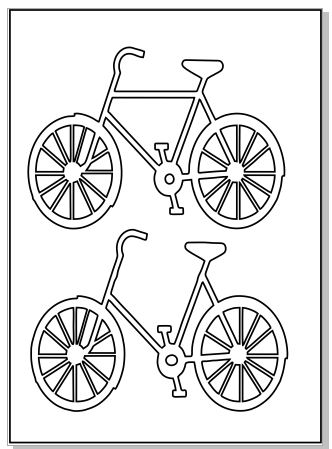 bicycles Micro 64 x 89 sheet
