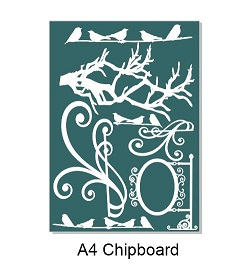 A4  birds,branches,flourishes Min buy 3