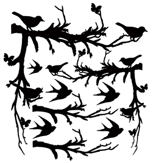 birds in the bush 200 x 200 corners Min buy 3  Memory Maze