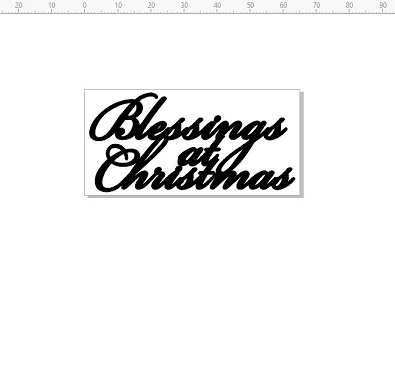 blessings at christmas 65 x 32  pack of 10