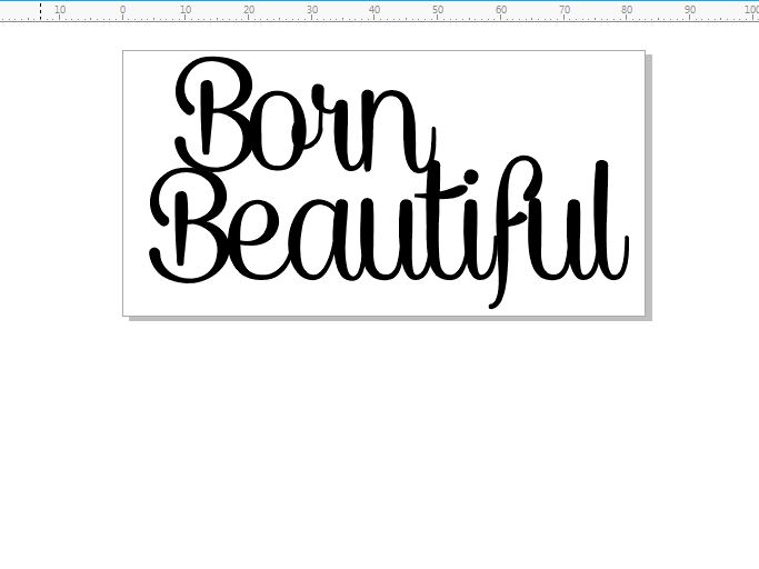 born beautiful 83 x 42 - 2 pack min buy 3