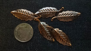 bronze leaves  charms pack 5  approx 2cm Limited qty
