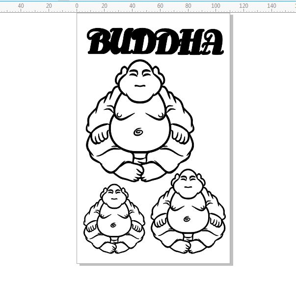 Buddha 110 x 180mm min buy 3