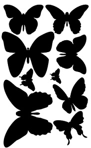 Butterflies,solid for painting or inking, covering 110 x 180mm m