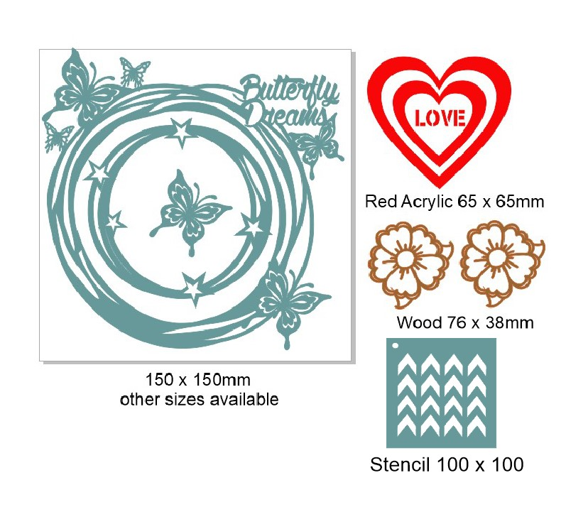 Retreat -Workshop kit  Butterfly dreams Incl stencil Min Buy3