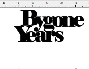 Bygone years 50 x 35 mm Pack of 10