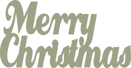 Merry Christmas C0075 large 78 x 40mm  Pack of 10