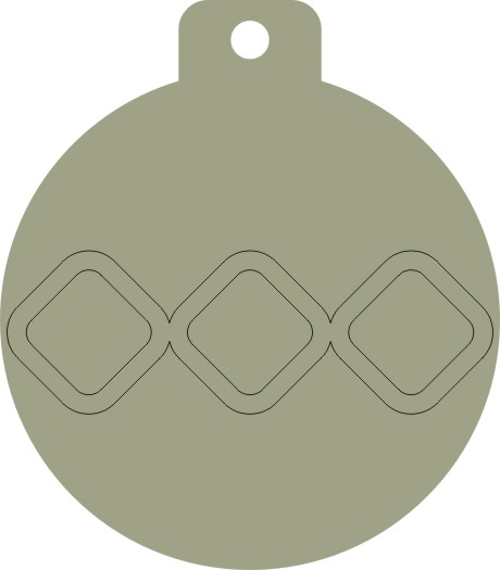 Christmas Bauble round 39mm x 45mm pack of 10