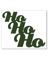 HO HO HO   MINI CARD   PACK 10 GREEN