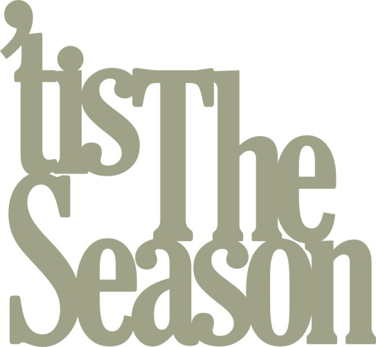 'Tis the Season pkt 10 46mm x 43mm