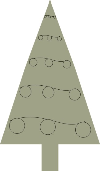 Christmas tree 3 pkt 1028mm x 47mm