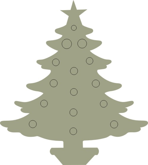 Christmas Tree 1 Pkt 10