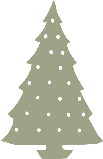 Christmas tree 2 pkt 130mm x 47mm0