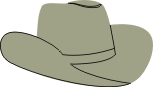Cow boy hat pack of ten. 54mm x 31mm