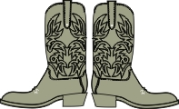 Cowboy boots  pack of 10 pairs. Each boot 35mm x 45mm