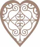 Heart decorative pkt of 10 48mm x 55