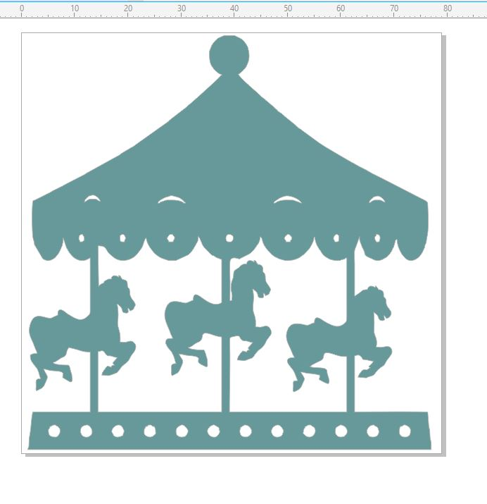Carousel,horse,carnival,circus,show, 79 x 79 mm card or scrapboo