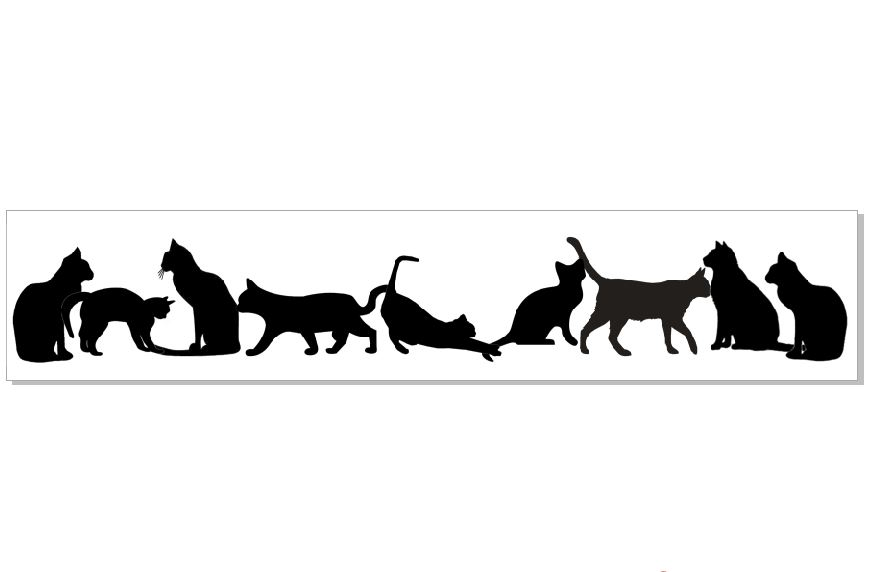 Cat Border cats  300 mmx 50 mm pack of 2 min purchase 3