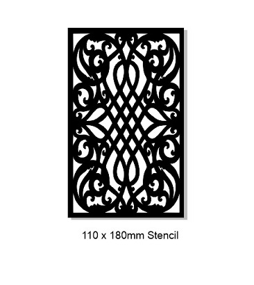 Celtic stencil 110 x 180mm .Min Buy 3